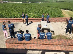 team buildig arrêt dans les vignes