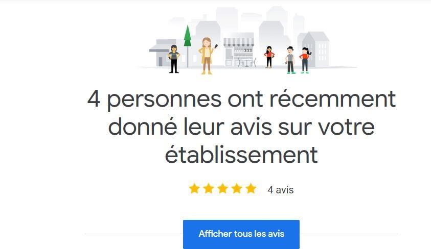 Vous avez reçu 4 nouveaux avis pour L'impériale de Marie Antoinette sur Google My Business