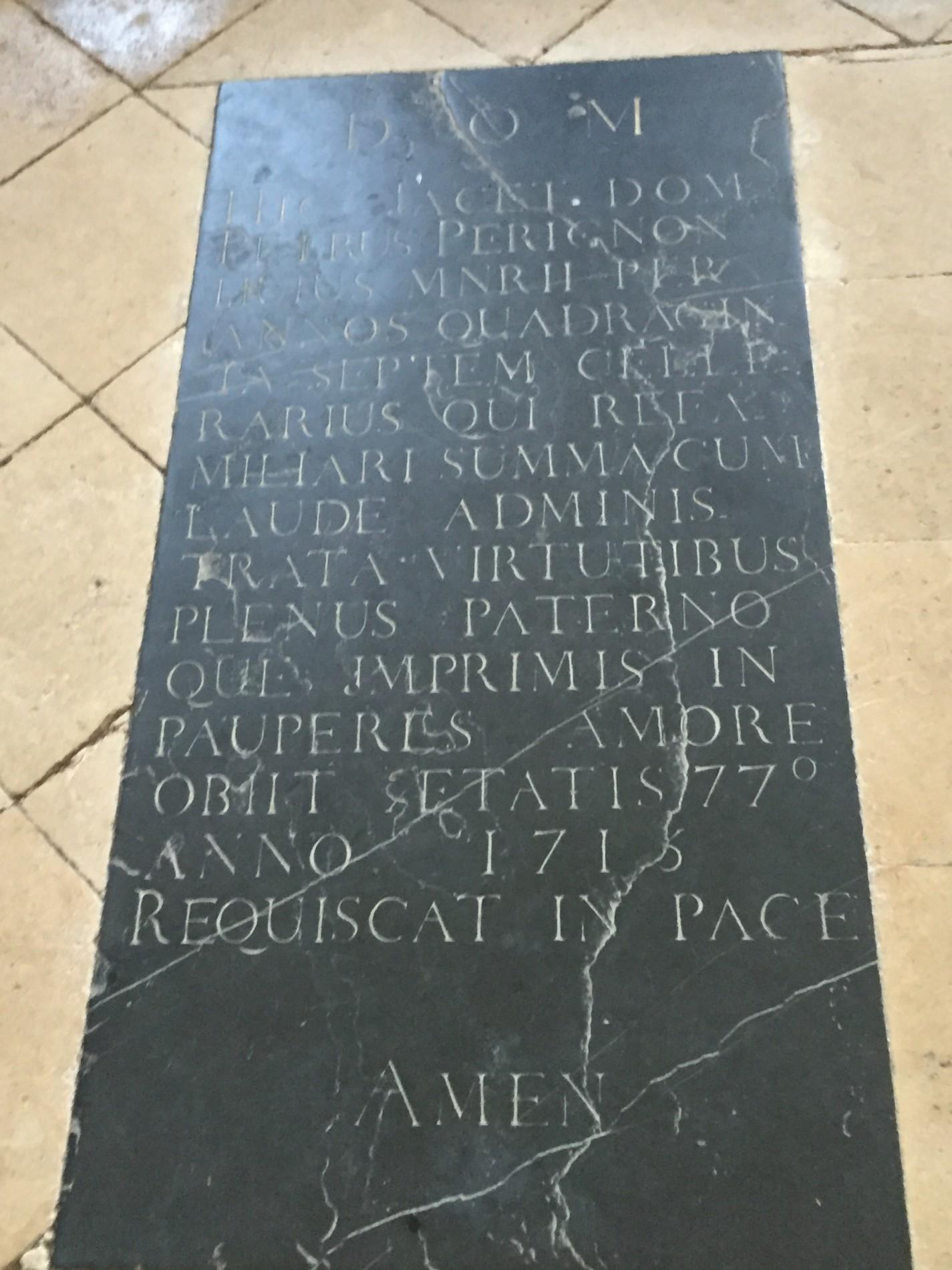 Hautvillers, tombe de Dom Pérignon